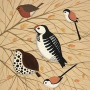 Birds in Branches, Greeting Card