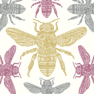 Native black honeybee, Eden Project, Greeting Card