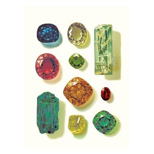 Gemstones, Curiosities, Greeting Card