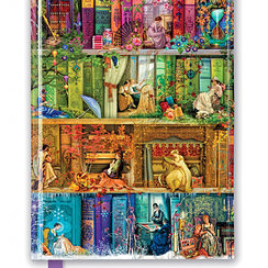 Aimee Stewart: A Stitch in Time Bookshelves, Foiled Journal