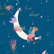 Love Moon Greeting Card