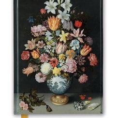 Natonal Gallery: Bosschaert - Still Life of Flowers in Wan-Li Vase, Foiled Journal