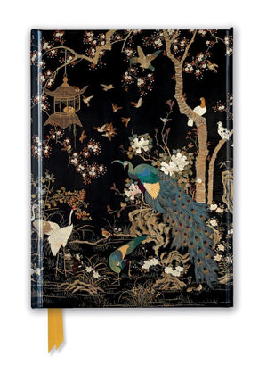 Ashmolean: Embroidered Hanging with Peacock, Foiled Journal