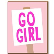 Go Girl, Greeting Card