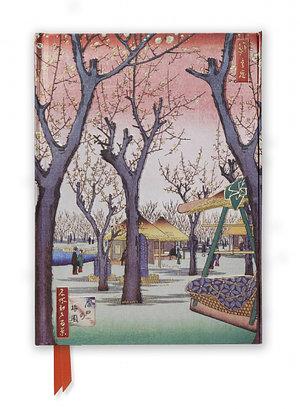 Hiroshige: Plum Garden, Foiled Journal