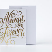 Always and Forever Grey, Greeting Card