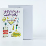 Vodka Milkshake, Greeting Card