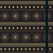 Starburst Gilded Black Journal