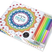 Vive Le Color! Peace (Adult Coloring Book and Pencils)