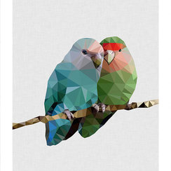Two Love Birds, Print A3