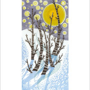 Snow Birches, Greeting Card