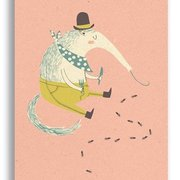 Paper&Cloth/Anteater, Postcard