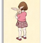 Belle hugs Boo pink, Belle & Boo Postcards