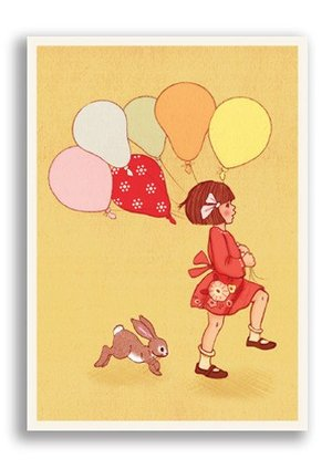 Balloons, Belle & Boo Playtime Postcards