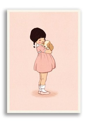 Puppy Love, Belle & Boo Playtime Postcards