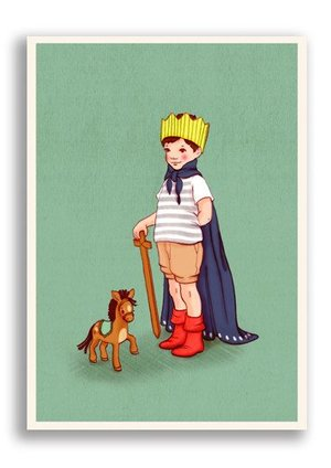 I am King, Belle & Boo Playtime Postcards