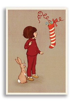 Belle&Boo/Christmas Stocking  (Xm), Postcard