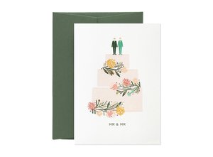 Wedding Cake 2 (Mr & Mr), Greeting Card