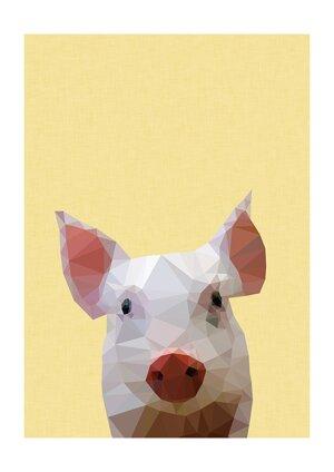 Piglet, Print A3