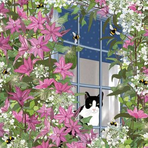 At The Window - Cat, Greeting Card