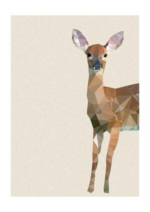 Woodland Fawn, Print A3