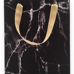 Black Marble Medium Gift Bag