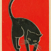 Black Cat, Postcard