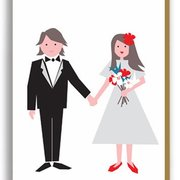 Happy Couple, Paper Folk Cards