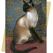 L. Ivory/ Phuan on a Chinese Carpet, Greeting Card