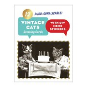 Classic Vintage Cat Memes DIY Greeting Card Folio