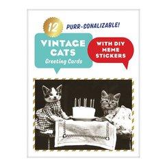 Classic Vintage Cat Memes DIY Greeting Card Folio