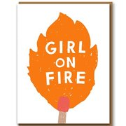 Girl On Fire, Greeting Card