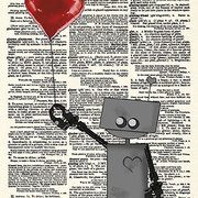 Robot Love, Greeting Card