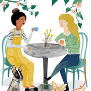 Friends and a cup of tea, Cards - Petite