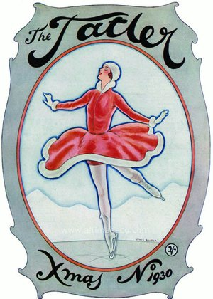 Tatler Christmas Cover, 1930, Greeting Card