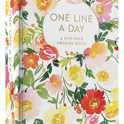 Floral One Line a Day,  A Five-Year Memory Book