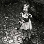 Little girl with her cat