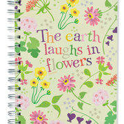 The Earth Laughs In Flowers, Spiral Bound Notebook, 100 sheets