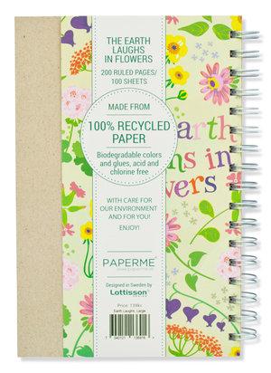 The Earth Laughs In Flowers, Spiralbunden Anteckningsbok, 100 sidor