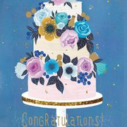 Tiered Wedding Cake Greeting Card